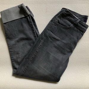 NYDJ straight leg cuff gray jeans w/ tummy control